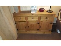 living room side board mexican pine in ex cond very nice piece of furniture £75 ovoov