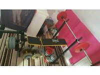 Bench bars and weighs