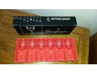 Collect Only 6Cristal D'Arques 6.5cl Dampierre sherry Glasses France 24%Lead Crystal