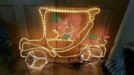 Santa in taxi