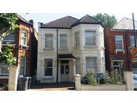 Pacious three-bedroom garden apartment, carved out of this semi detached period style house