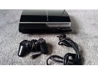 Sony PS3 80Gb Piano Black Gaming Console - Fully Working