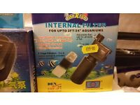 "Fish R Fun Mini Internal Filter for Aquarium Fish Tank for upto 2FT/24"" aquarium"