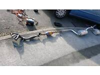 Ford focus 2001 zetec se 1.6 full exhaust system with lambs censors