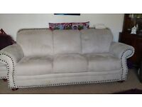 High quality 3 piece suite with two foot stools