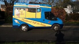 Soft Ice Cream van castle style body complete with double skin interior