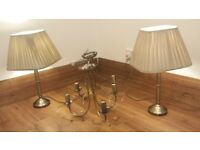 Ceiling lights and matching table lamps