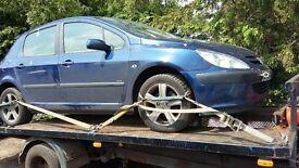 2x Peugeot 307 2002 2.0 16v Petrol & 1.4 HDi - - Breaking