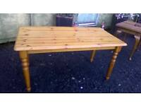 Lovely Solid pine rectangular dining table in good sturdy condition