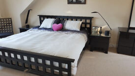 King Size Black Lacquer/High Gloss Bedroom Suite from Heals of London