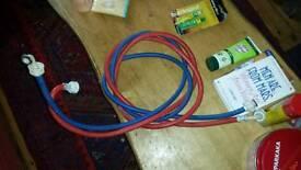 Long washing machine hose