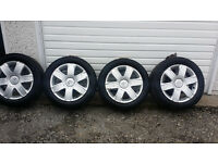 Citroen GENUINE 16 alloy wheels +4 x tyres 205 55 16