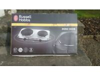 Russell Hobbs Electric Mini Hob / Hot Plate 2 Plate Stainless Steel
