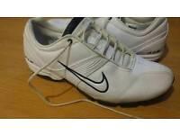 Nike Air Toukol ii White Leather Trainers