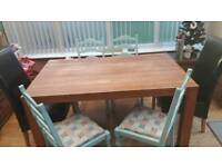 Solid wood table no chairs