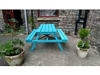 Beach Blue Garden Bench (Upcycled in excellent condition)