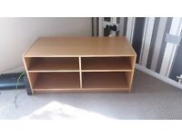 Oak effect tv unit.