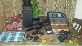 Canon rebel t4i ( 650d) bundle in good condition with 18mm-55mm and a 170mm - 500mm lens + extras