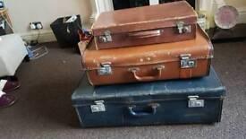 3 vintage suitcases ideal for prop/shop front /Wedding etc