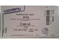 JAKE BUGG ticket 26th october at O2 LEEDS