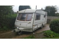 ABI TRANSTAR 4/5 BERTH WITH FULL AWNING GAS BOTTLE WATER PUMP IN GOOD CLEAN CONDITION