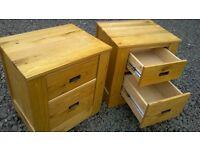 Large solid oak,Oak furniture land pair of bedside drawers