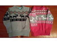2 X winter jumpers age 2-3yrs