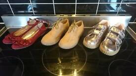 3 x all new kids shoes size 2
