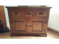 Oak side board/ sideboard bought from Mark Elliot Handmade Furniture