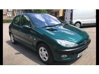 Peugeot 206 1.6 full service history main dealer stamps long mot 2 remote keys