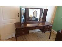 Stag Minstrel Mahogany Dressing Table with Mirror