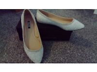 Lace and Diamante Wedding Shoes