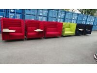 "Designer Vitra ""Alcove"" Highback Sofas RRP Approx £5000 Each"