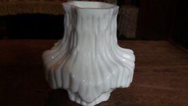 Czechoslovakian heavy glass jar