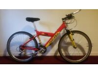 "Univega FS700 Unisex Mountain Bike 17"" Aluminium Frame with Lock"