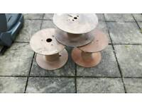 Small wooden cable reels. Ideal garden project. Reuse or shabby chic.
