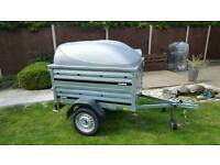 USED Brenderup 1150s Car trailer +extension sides +lockable Abs lid.