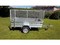 CAGE TRAILER - 8,7FT X 4,2FT MESH SIDES TRAILER £1050 inc vat