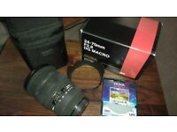 A mount Sigma 24-70mm Camera Lens (for Konica & Sony) with Hoya cir.polarising filter