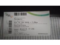 1xParamore tickt for Birmingham 14th Jan. Willing to meet at venue to sell ticket. Face value £42.50