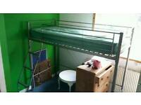 Kids single high rise bed