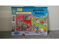 Muddle Races - children's game book with magnetic pieces.