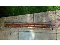 Vintage cane fishing rod approx 14'