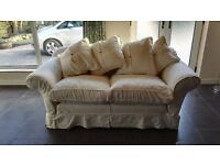 Chalk white 2 seater sofa in immaculate condition
