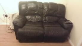 Very good condition leather sofas bought last year only £150