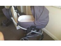 baby carrycot and pram in good condition (very clean) £70