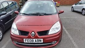 Car RENAULT SCENIC MPV 2008 Automatic 5 door petrol red ***1549.99***