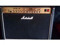 For sale-Marshall JCM 2000-60W TSL 602 All Valve 2X12 combo.Brand new original Marshall Footswitch.