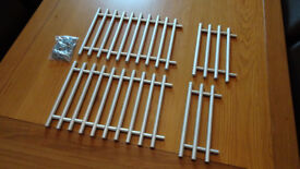 160mm Kitchen Door and Drawer T-bar Handles x27 Used