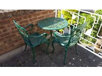 Metal Patio Table and 2 Chairs for Sale - Excellent Condition